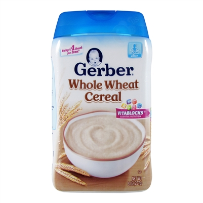 Whole Wheat Cereal 6 Pack 8 Oz Gerber