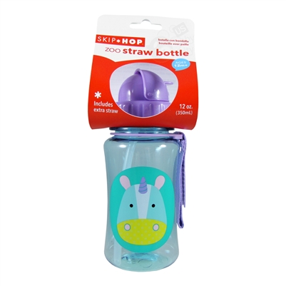 Zoo Straw Bottle Unicorn Skip Hop