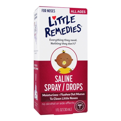 Saline Spray Drops 1 Oz Little Remedies