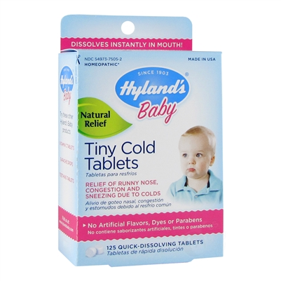 Baby Tiny Cold Tablets 125 Tab Hyland S